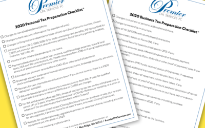 2020 Tax Preparation Checklists Now Available